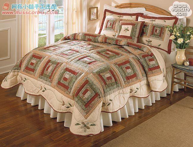 edredones cubrecamas patrones dormitorios bohemios tecnica patchwork troncos hardanger apliques cortinas