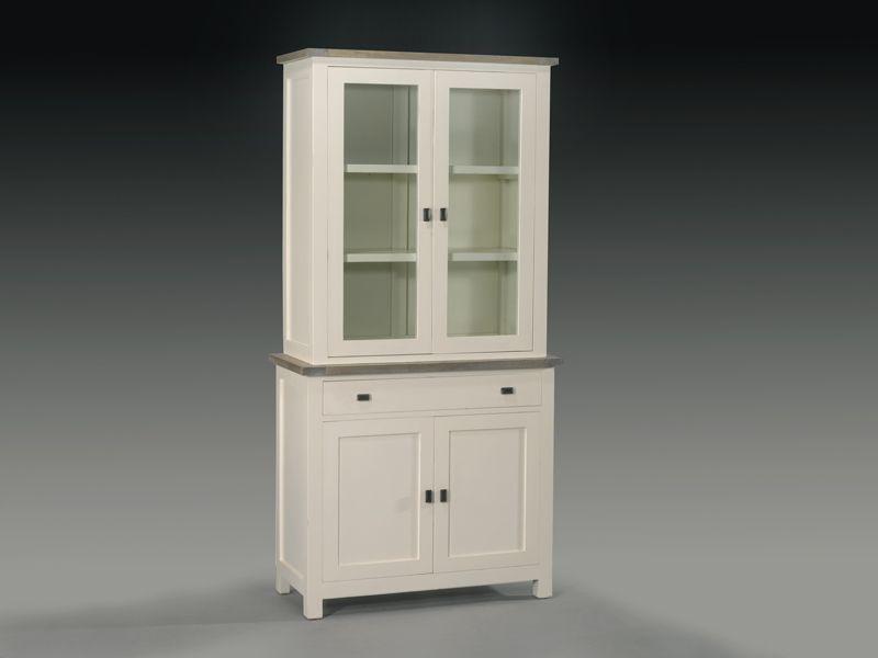 Alacena blanca alacena blanca roble muebles pinterest - Alacenas de cocina antiguas ...