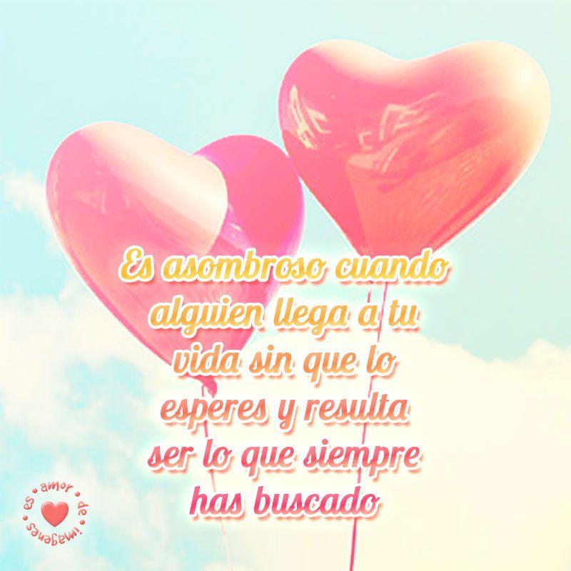 Globos De Corazones Con Frase De Amor Frases Pinterest Amor