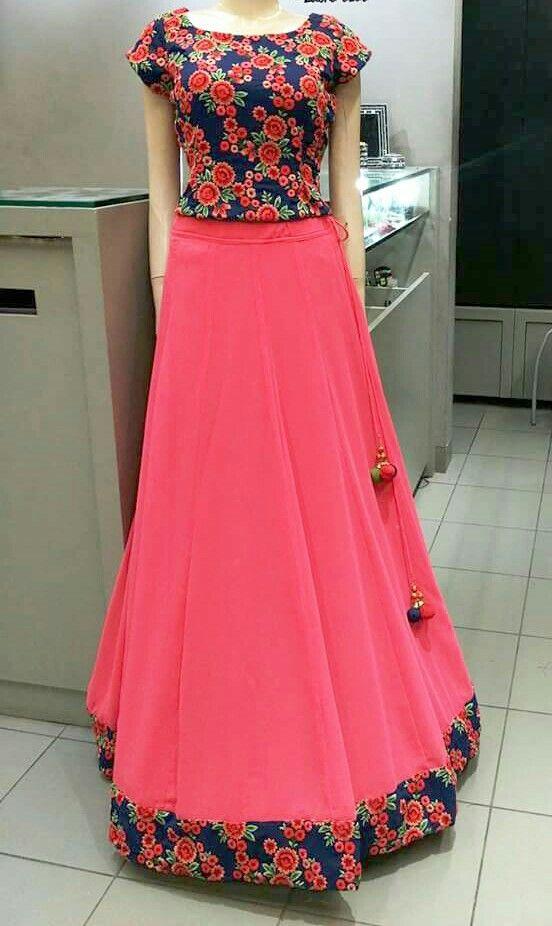 0b483a8321c11 floral top & skirt | #skirt Dress Skirt, Saree Dress, Saree Blouse