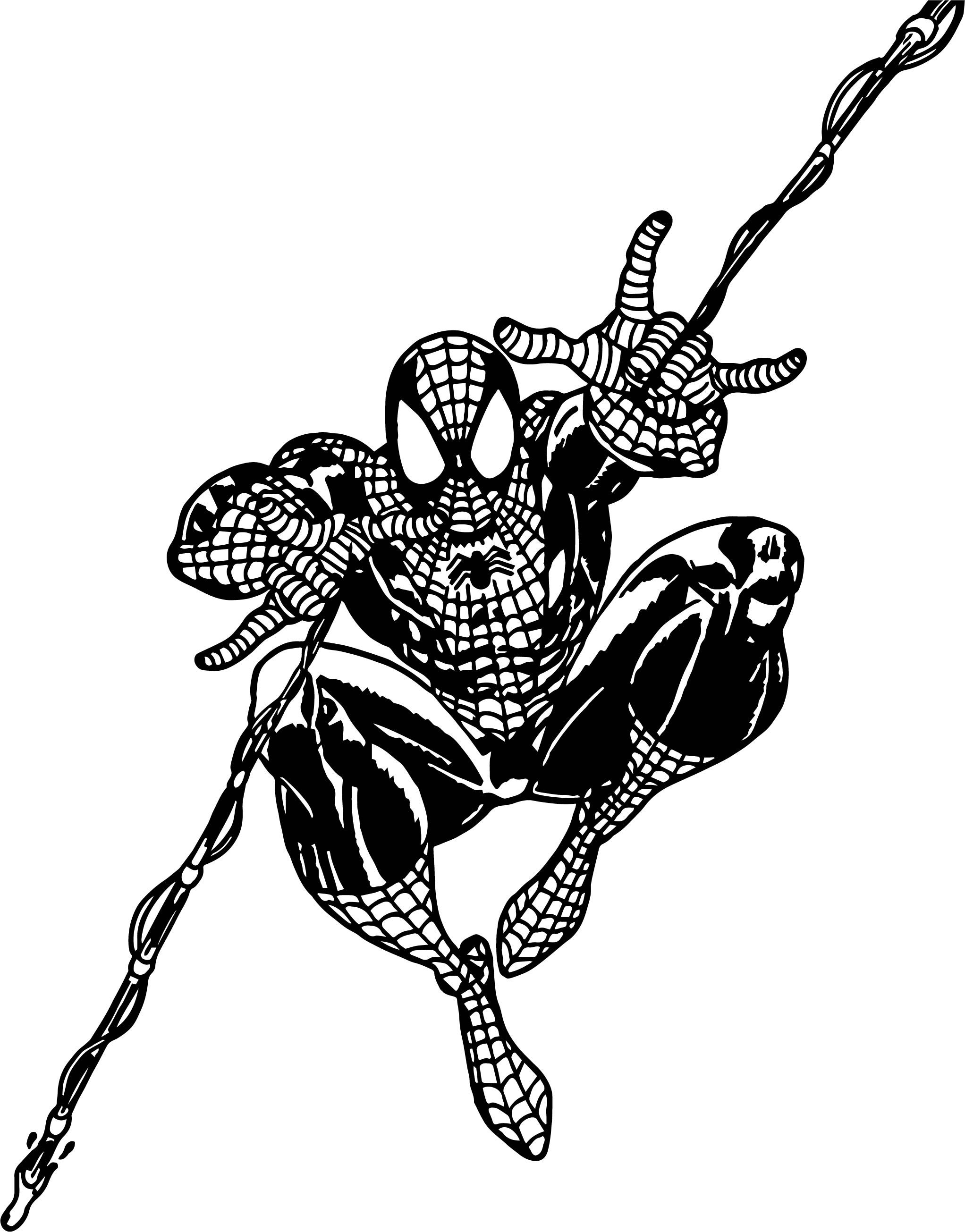 Nice Spider Man Rope Coloring Pages Coloring Pages Spiderman Boy Coloring
