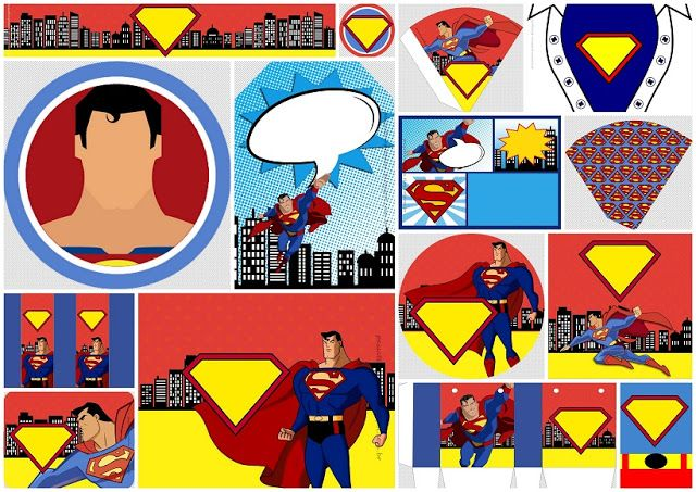 Superman Comic Free Printable Kit Oh My Fiesta For Geeks