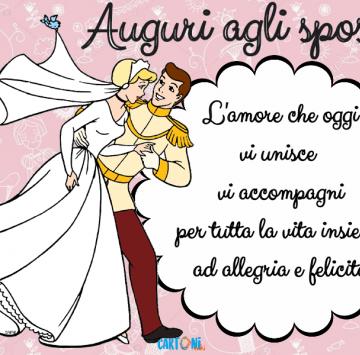 W Gli Sposi I Miei Auguri Affinche Cartoni Animati Spose Felice Anniversario Matrimonio