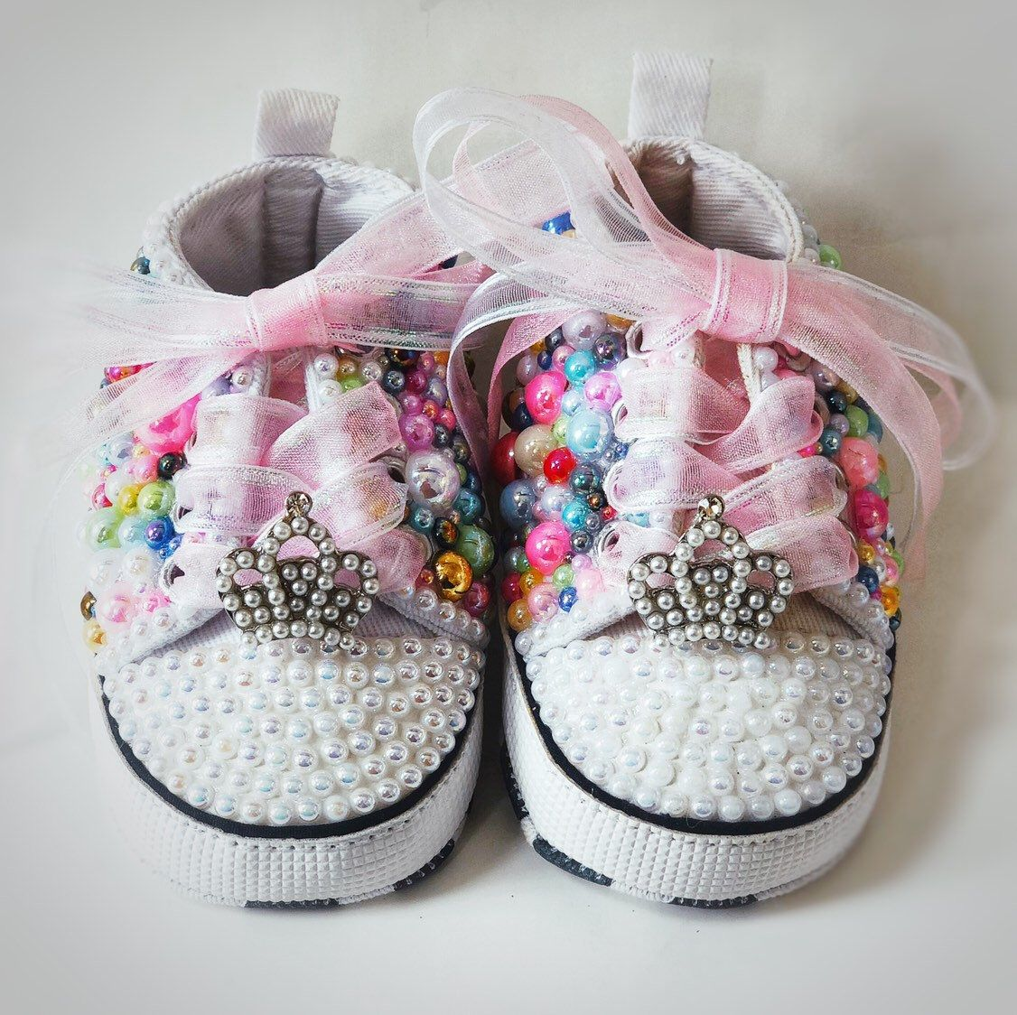 266e0c8f1bbffc Excited to share the latest addition to my  etsy shop  Pearl Baby Shoes   clothing  shoes  children  rainbow  babyshower  1baby  baby  bling   rhinestones
