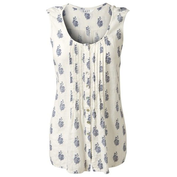 East Reina Linen Vest, White ($64) via Polyvore