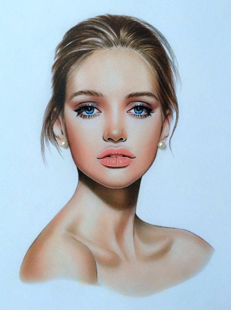 Чудесным утром, картинки лица девушек нарисованные