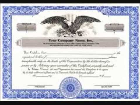 Stock Certificate Template StockCertificateTemplate  Stock