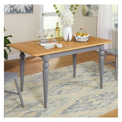 Astounding Pranzo Turned Legs Table Gray Natural Buylateral Download Free Architecture Designs Scobabritishbridgeorg