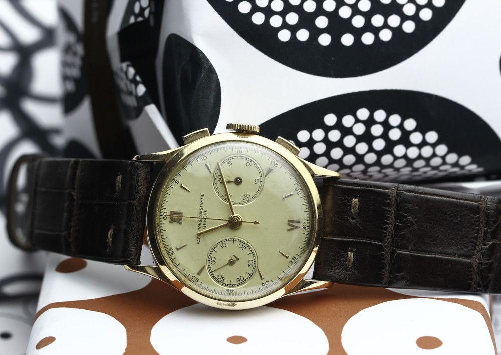 Vacheron Constantin #Vacheronconstantin #Chronograph #287220 #40s #gold #yellowgold #vintagewatches #steinermaastricht
