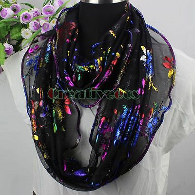 Rainbow Floral Print Black Scarf Circle Infinity Scarf Womens Scarf Laides Scarf https://t.co/a2OGYyALsz https://t.co/Jl2ui0vIQ3