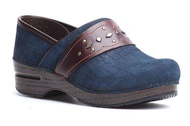 bf420137b3 Dansko Pavan dress clogs in Blue Croc! | Dansko® | Footwear, Dansko ...