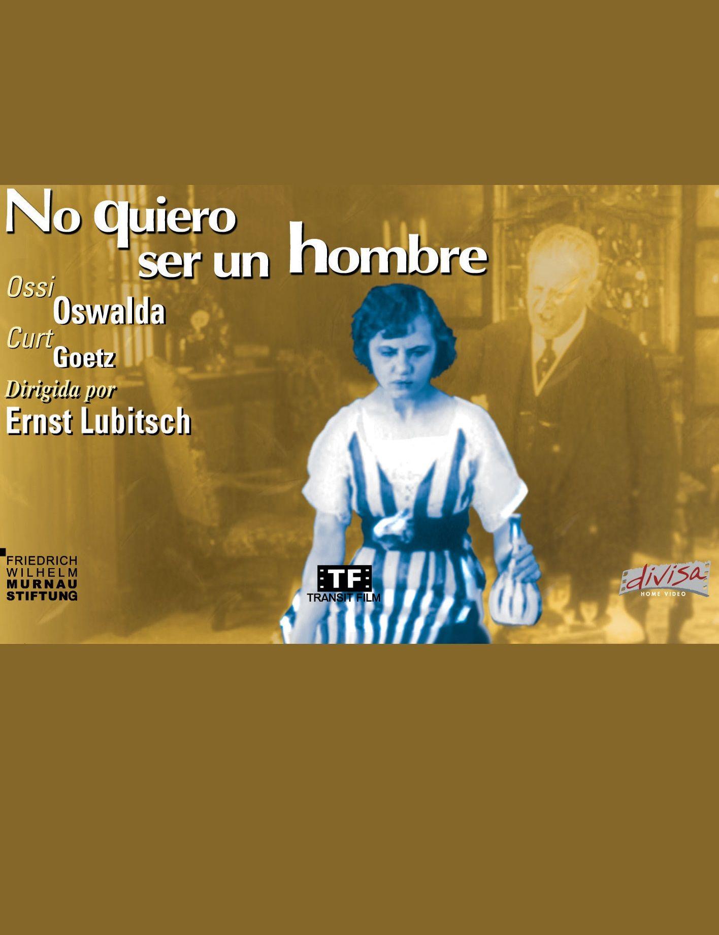 No quiero ser un hombre (1918) Alemaña. Dir: Ernst Lubitsch. Drama. Comedia. Romance. Feminismo. Mediametraxe - DVD CINE 996-I