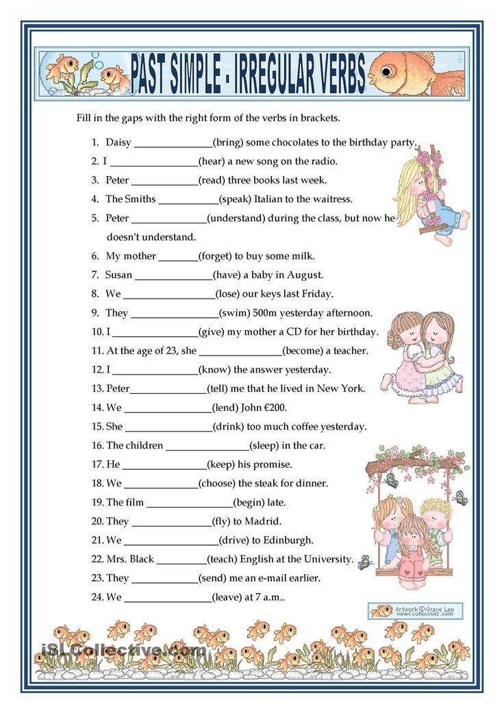 PAST SIMPLE - IRREGULAR VERBS Irregular Verbs, Simple Past Tense, English  Verbs