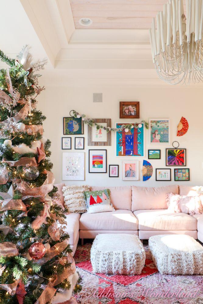 Addison S Wonderland Interior Design Decor Diy And Lifestyle Blog Pink House Interior Christmas Home Decor A very pink christmas playroom