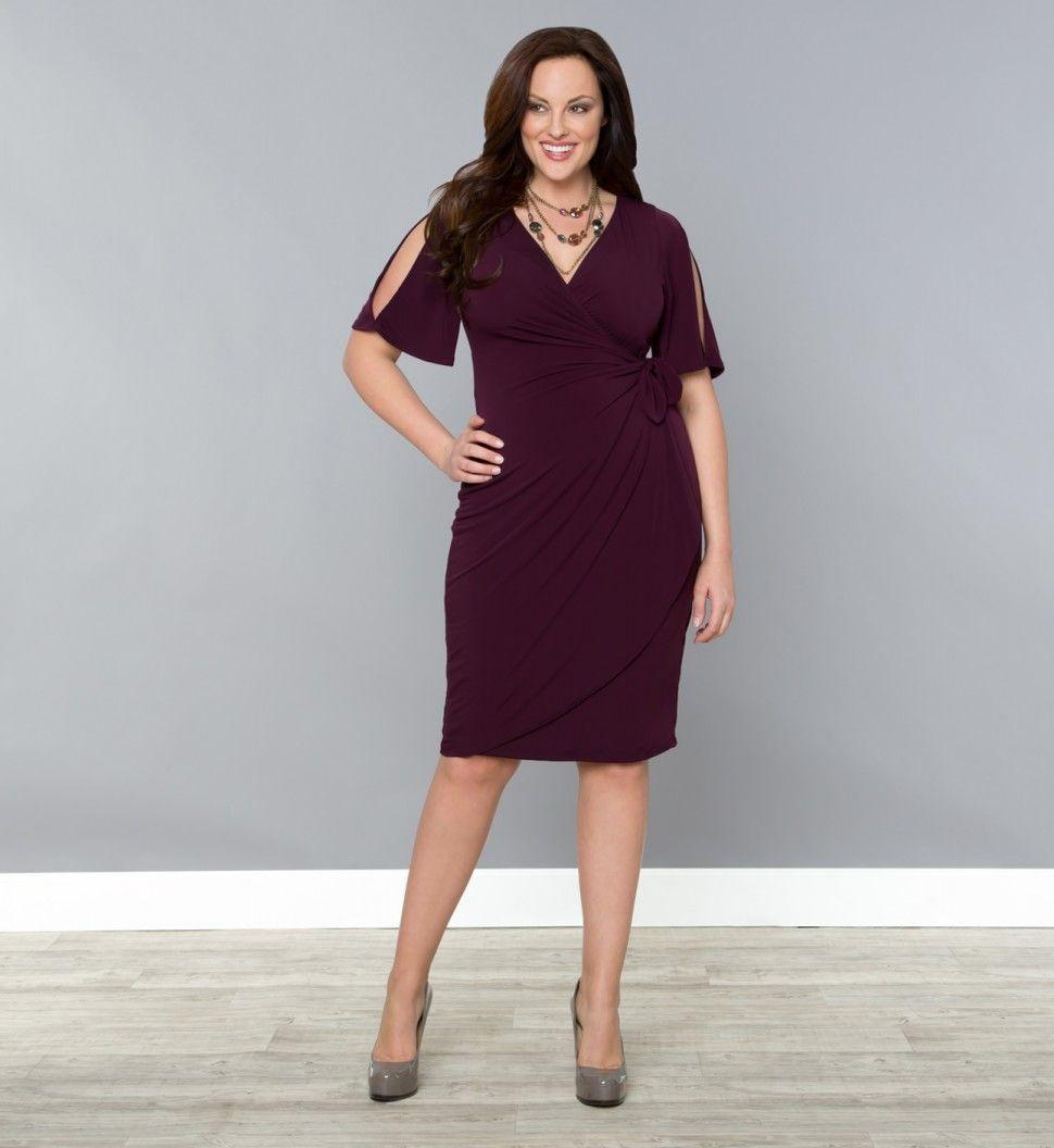 Plus Size Dresses - Serena Cold Shoulder Dress - Kiyonna ...