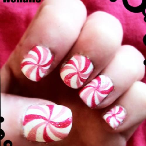 Peppermint Nail Design Google Search Gelish Nail Art Ideas