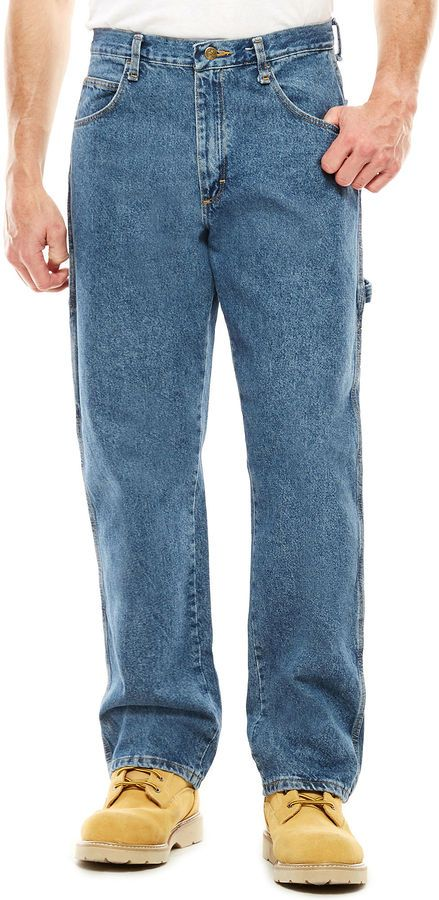 1c17a7f8b90709 JCPenney Red Kap Loose-Fit Dungarees | Dan W. | Tall jeans, Dungarees, Mens  big, tall