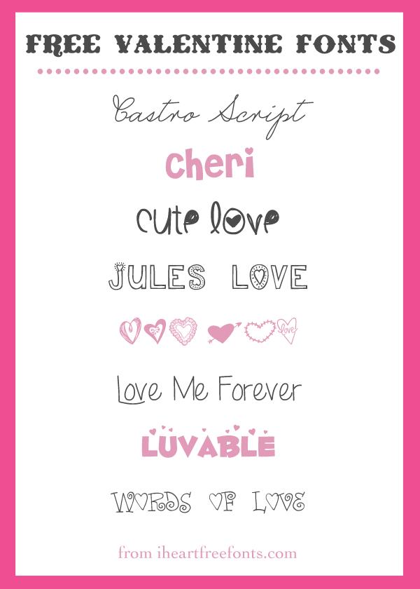 8 {Pretty} Free Valentine Fonts ~~ {w/ easy download links} | Make