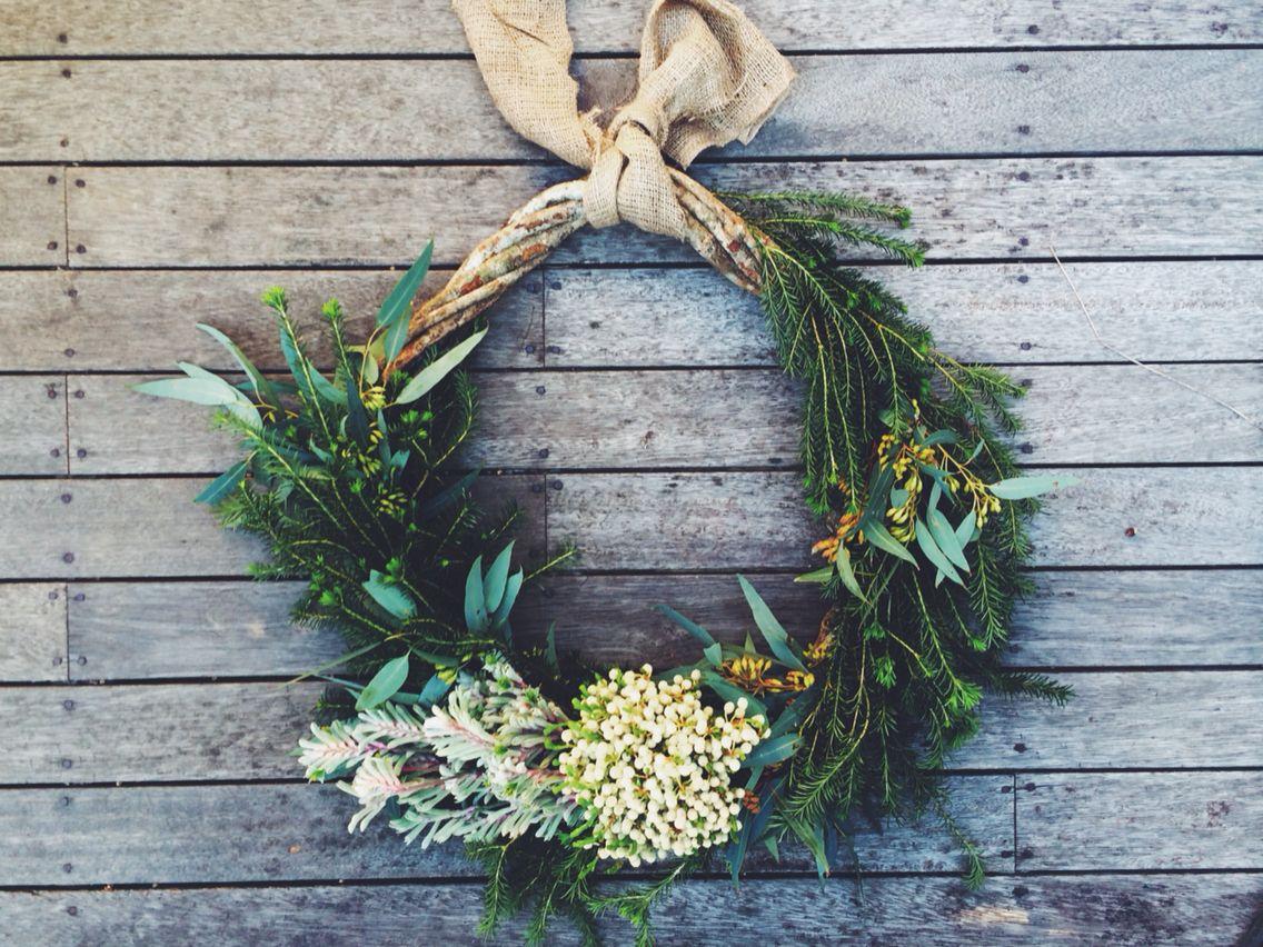 Flora Folk Australian Native Christmas Wreath Christmas Wreaths Aussie Christmas Happy Holidays Wreath