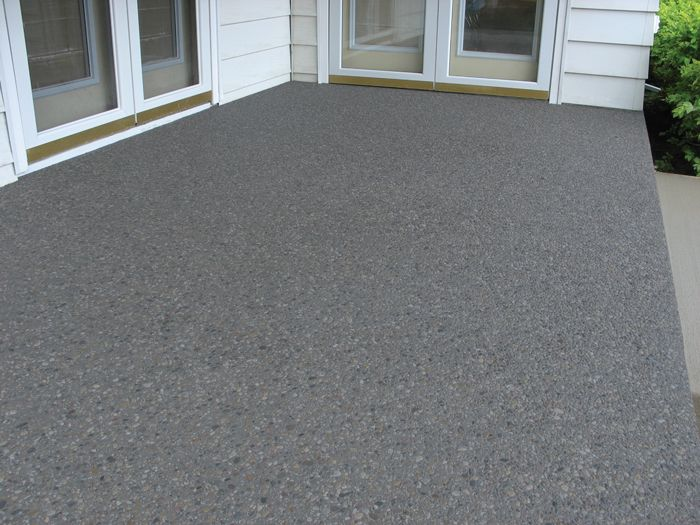 Charcoal Concrete Exposed Aggregate Concrete Exposed