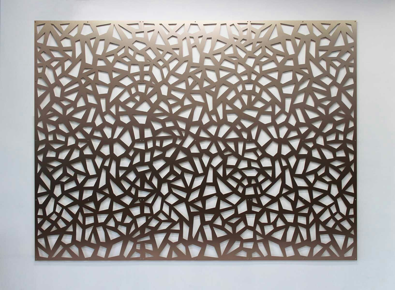Decorative Screen Wall Art Bronze Wall Panels Continuous Cellular Pattern Lobby Feature Wall Wall Patterns Decorative Screen Panels Wallpaper Accent Wall