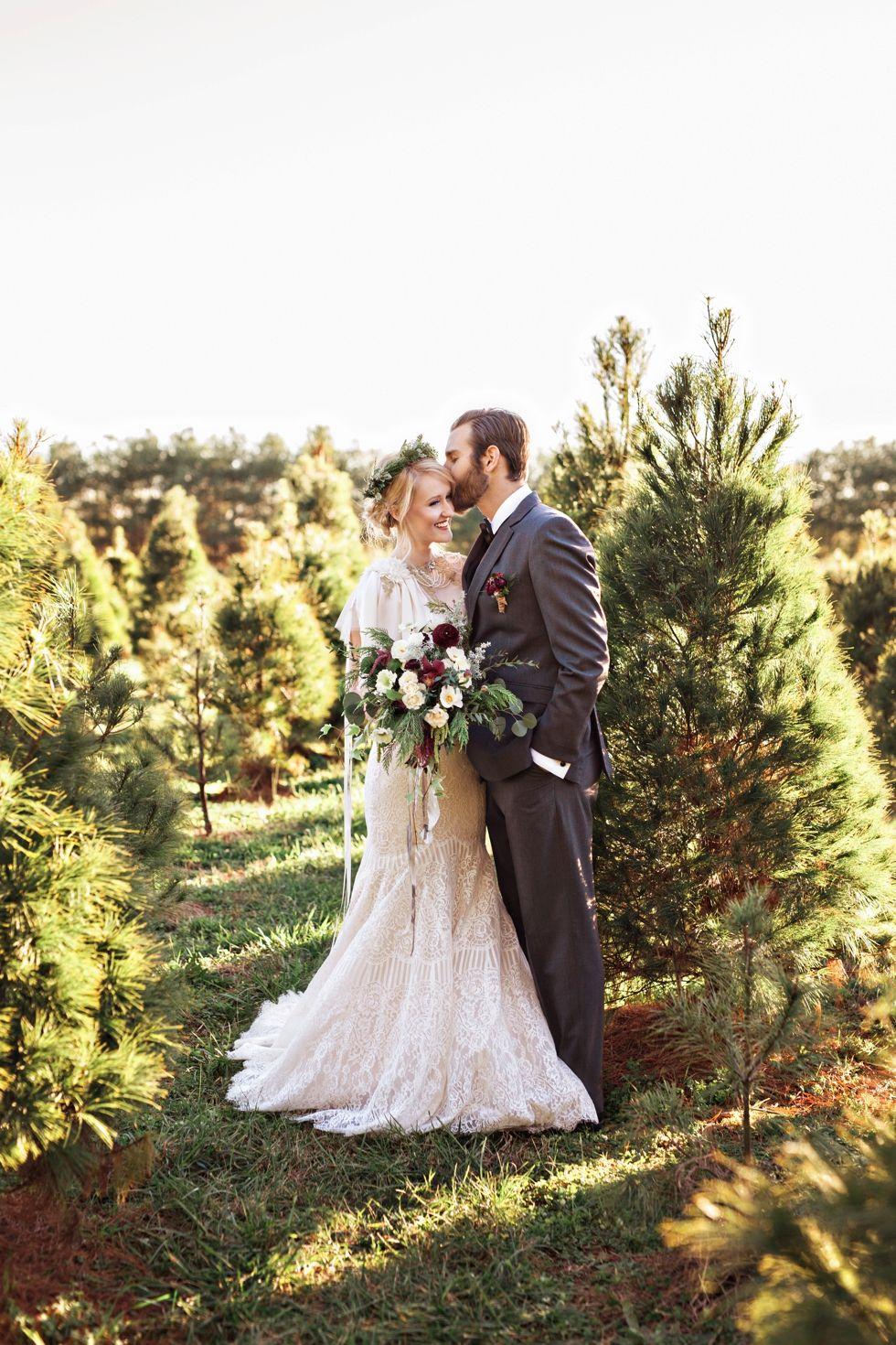Christmas Tree Farm Elopement Nashville Wedding Photographers Farm Wedding Reception Wedding