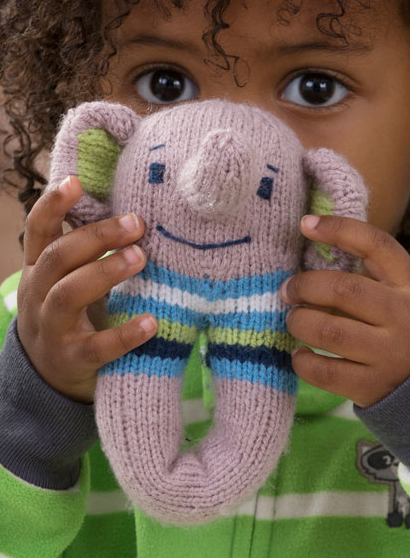1e495bcbd61a Free Knitting Pattern for Elephant Baby Rattle - This soft knit ...