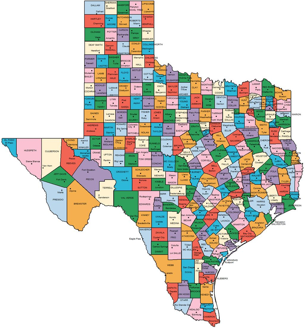 Texas Counties Mapas Pinterest Mapas - Map of counties in texas