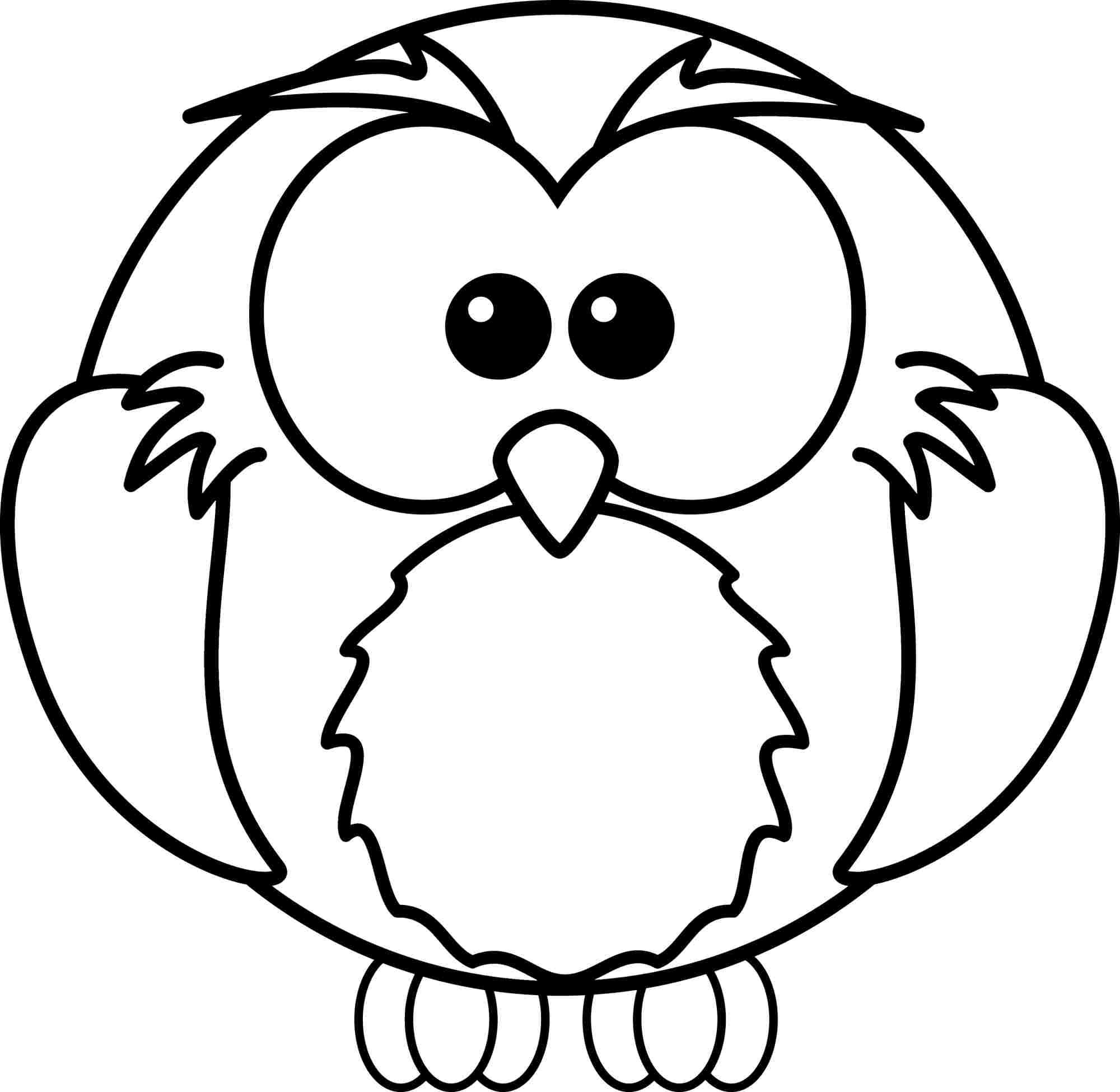 Animal Owl Coloring Sheets Free For Little Kids 8023
