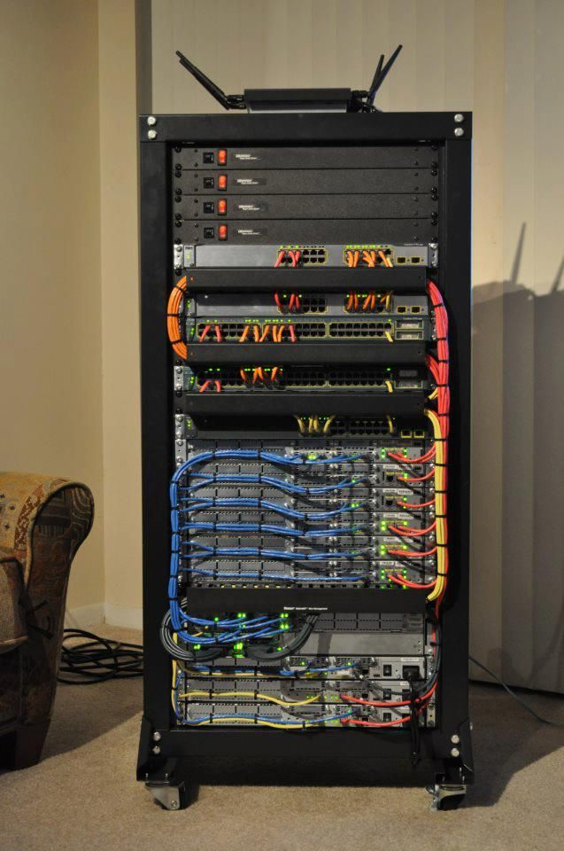 Someone's home lab. found on cisco's facebook page. (With images ...