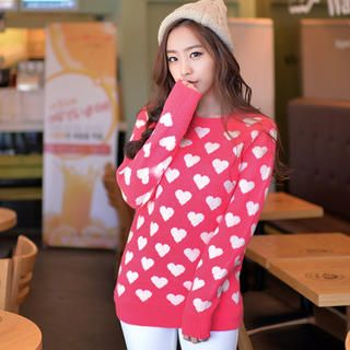Heart Pattern Sweater from #YesStyle <3 CLICK YesStyle.com