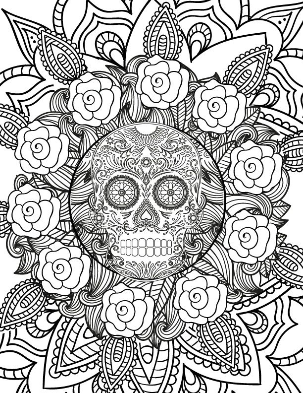 A fun Halloween coloring book - with 31 illustrations of spooky ...
