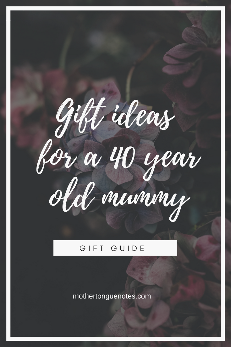 What to give: 40 years