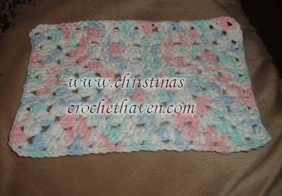 Fancy Rectangle Granny Dishcloth
