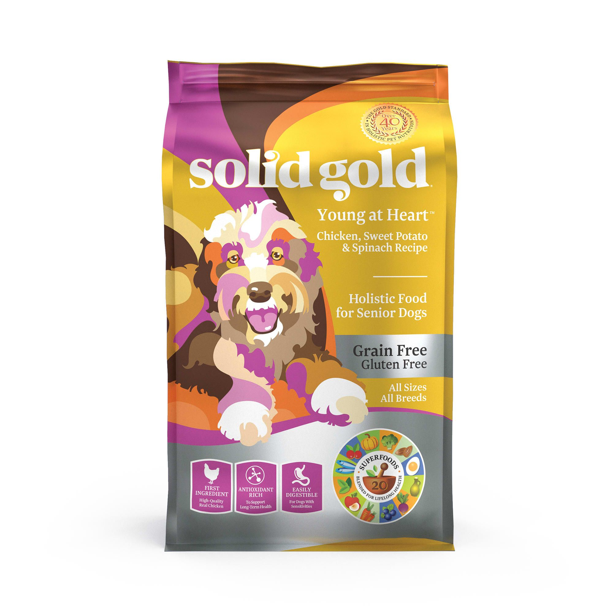 Solid Gold Young At Heart Chicken Sweet Potato Spinach Recipe