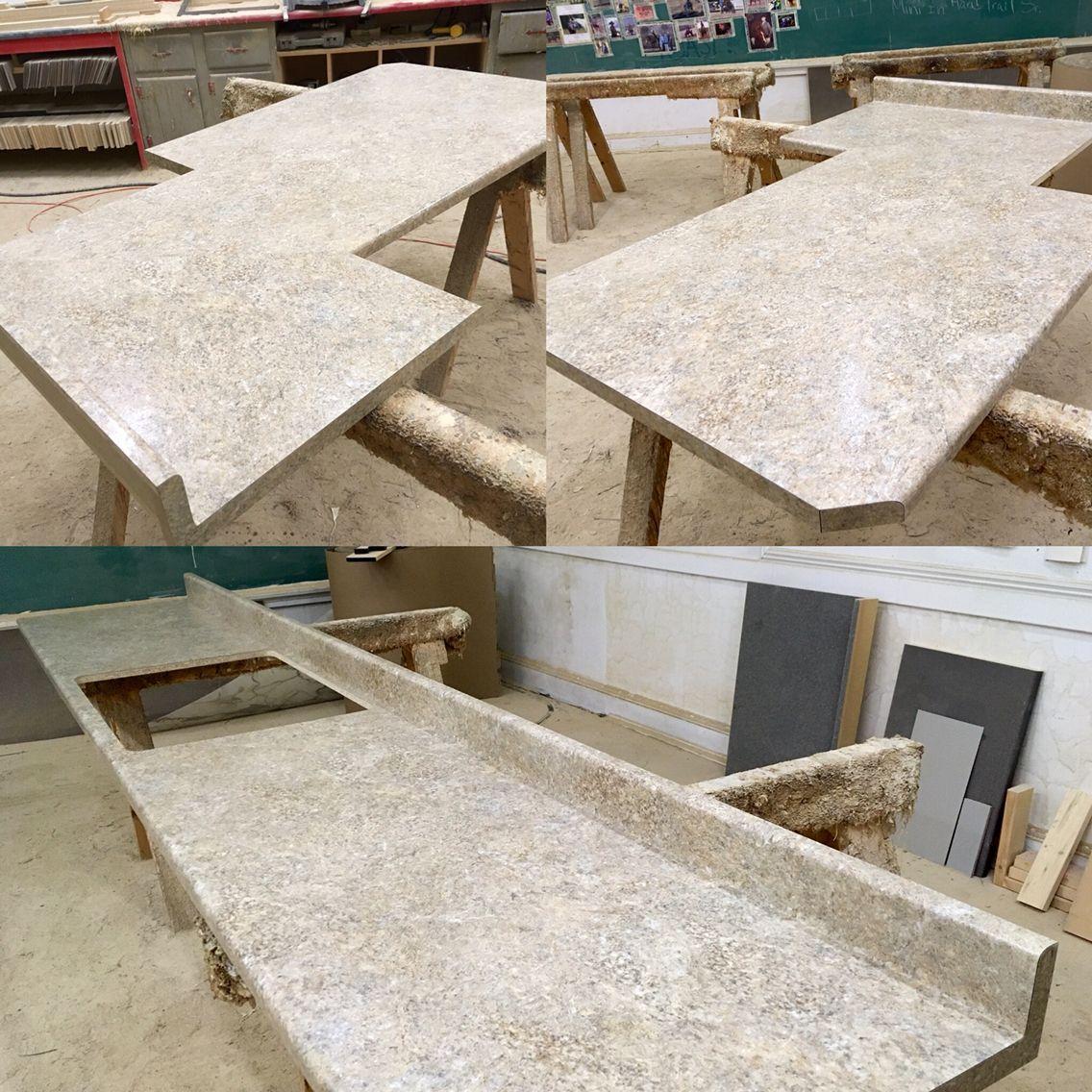 Chrystalline Shell Hd Mirage Finish Waterfall Profile Laminate Countertops Laminate Countertops Countertops Bathroom Countertops