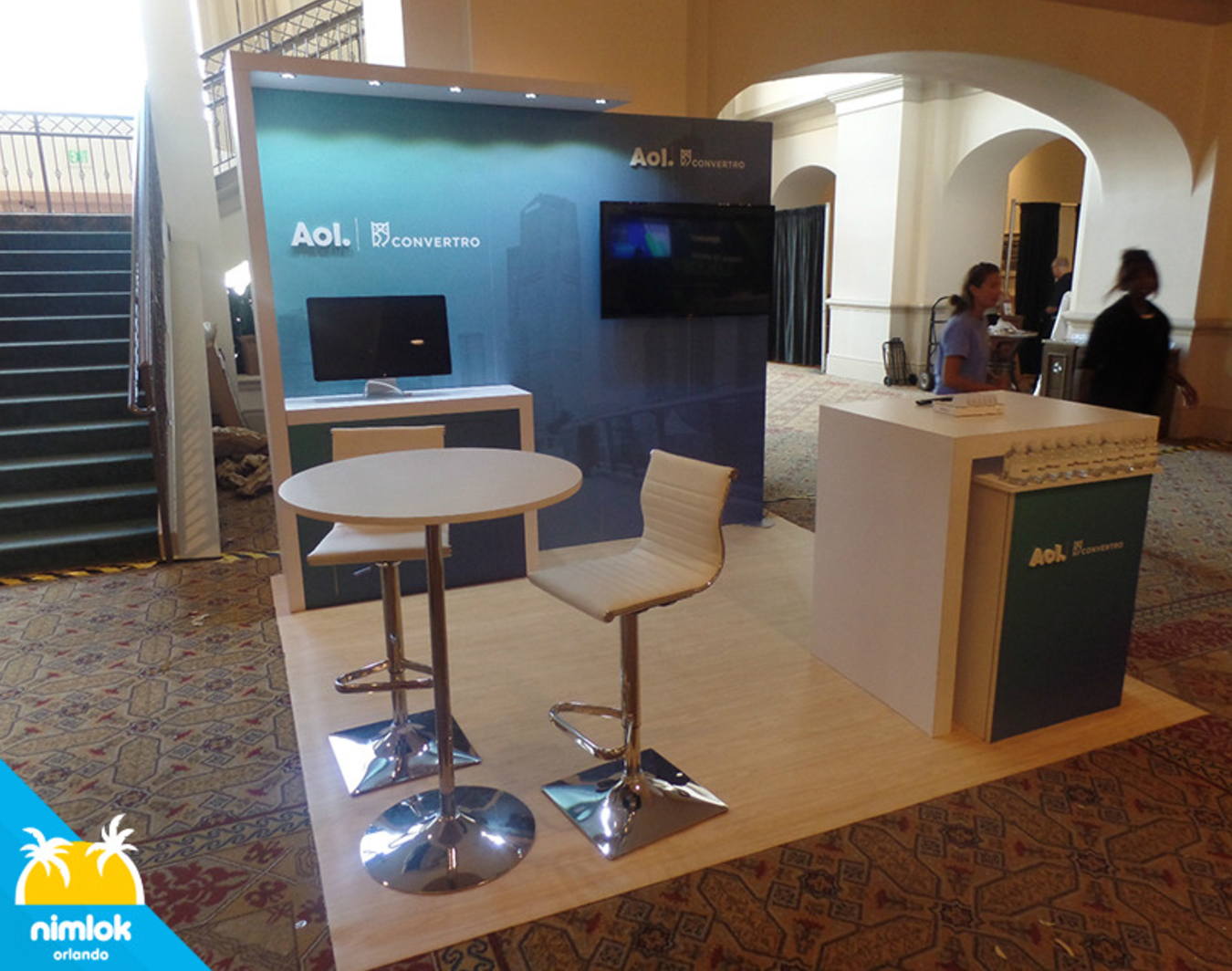 AOL 10x10 Custom Trade Show Booth Exhibit - Nimlok Orlando ...