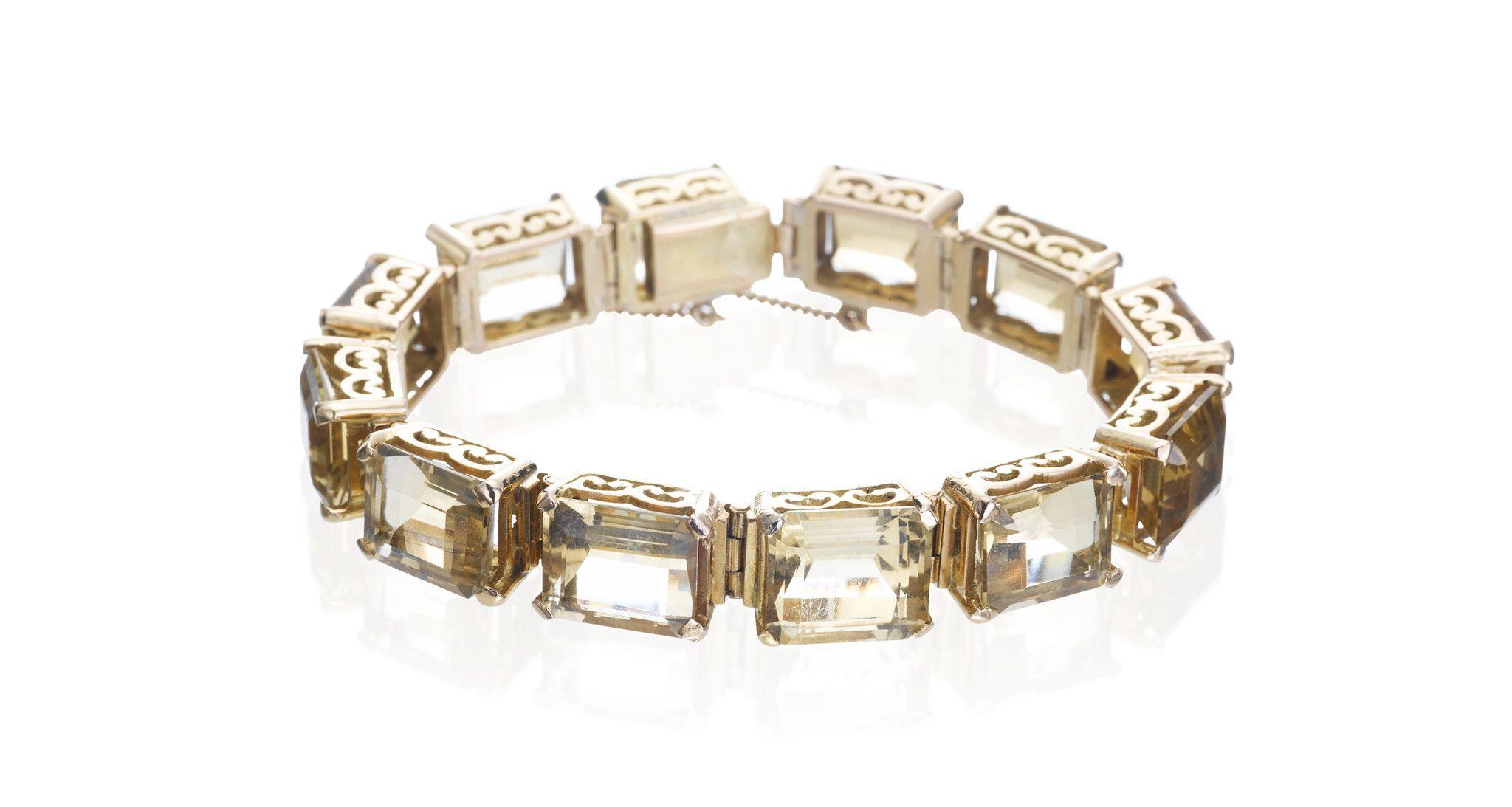 Vintage citrine u gold bracelet products pinterest products