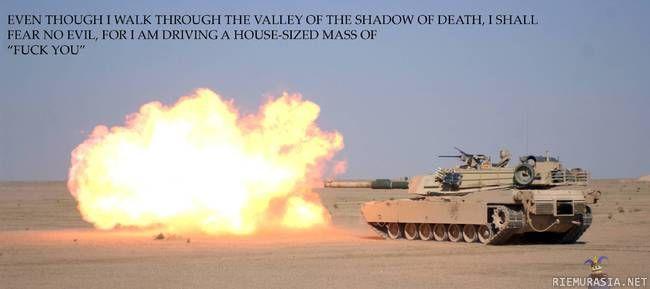 The tank drivers prayer