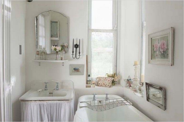 40 Elegant Shabby Chic Bathroom Decorating Ideas Bathroomdecor Bathroomideas Shabbychicdecor Shabby Chic Bathroom Inspiration Bathroom
