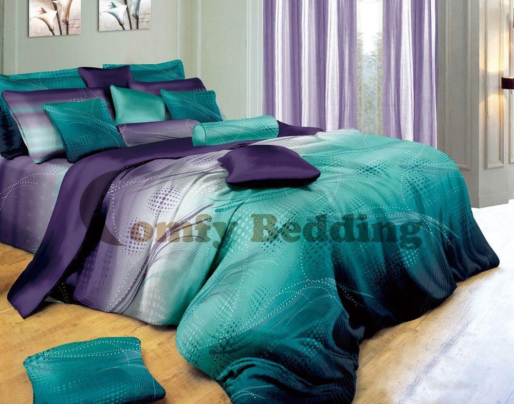 Twilight Luxury 100%Cotton Duvet Cover Set: Duvet/Comforter Cover & Pillow Shams in Home & Garden, Bedding, Duvet Covers & Sets | eBay