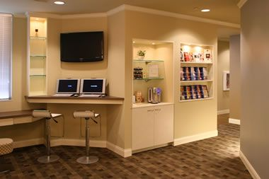 Coffee bar Internet cove Reception Seating Area Pinterest