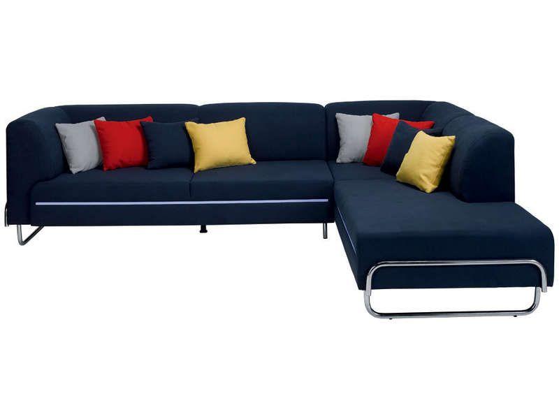 soldes canap conforama achat canap d 39 angle droit 4 places light coloris bleu coussins. Black Bedroom Furniture Sets. Home Design Ideas
