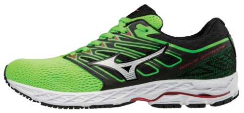 best website 7df66 e84f1 Mizuno Mens Running Shoes - Men s Wave Shadow Running Shoe - 410940, Size  8  1 2 (0850), Green Slime-White (4z00)