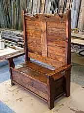 High Back Storage Bench