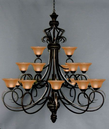 A7 568 21 Wrought Iron 21 Lights Chandeliers Crystal Chandelier