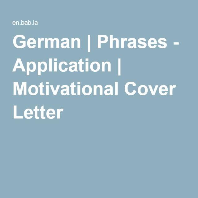 motivational cover letter
