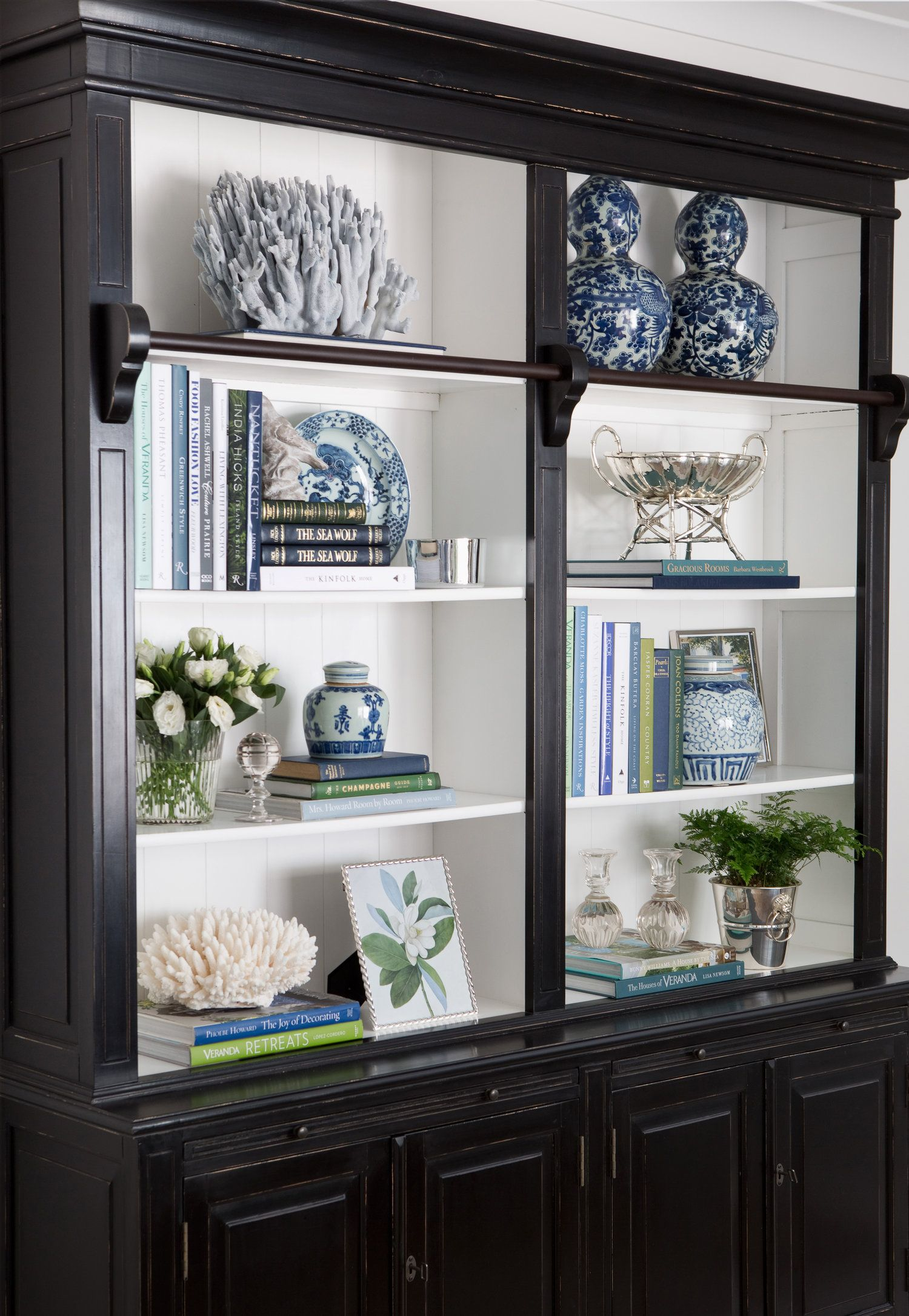 Mayflower House Gold Coast Project Hamptons Bookcase Styling Blue Green Mayflower House Offers Comprehensi Decor Bookshelf Decor Decorating Bookshelves