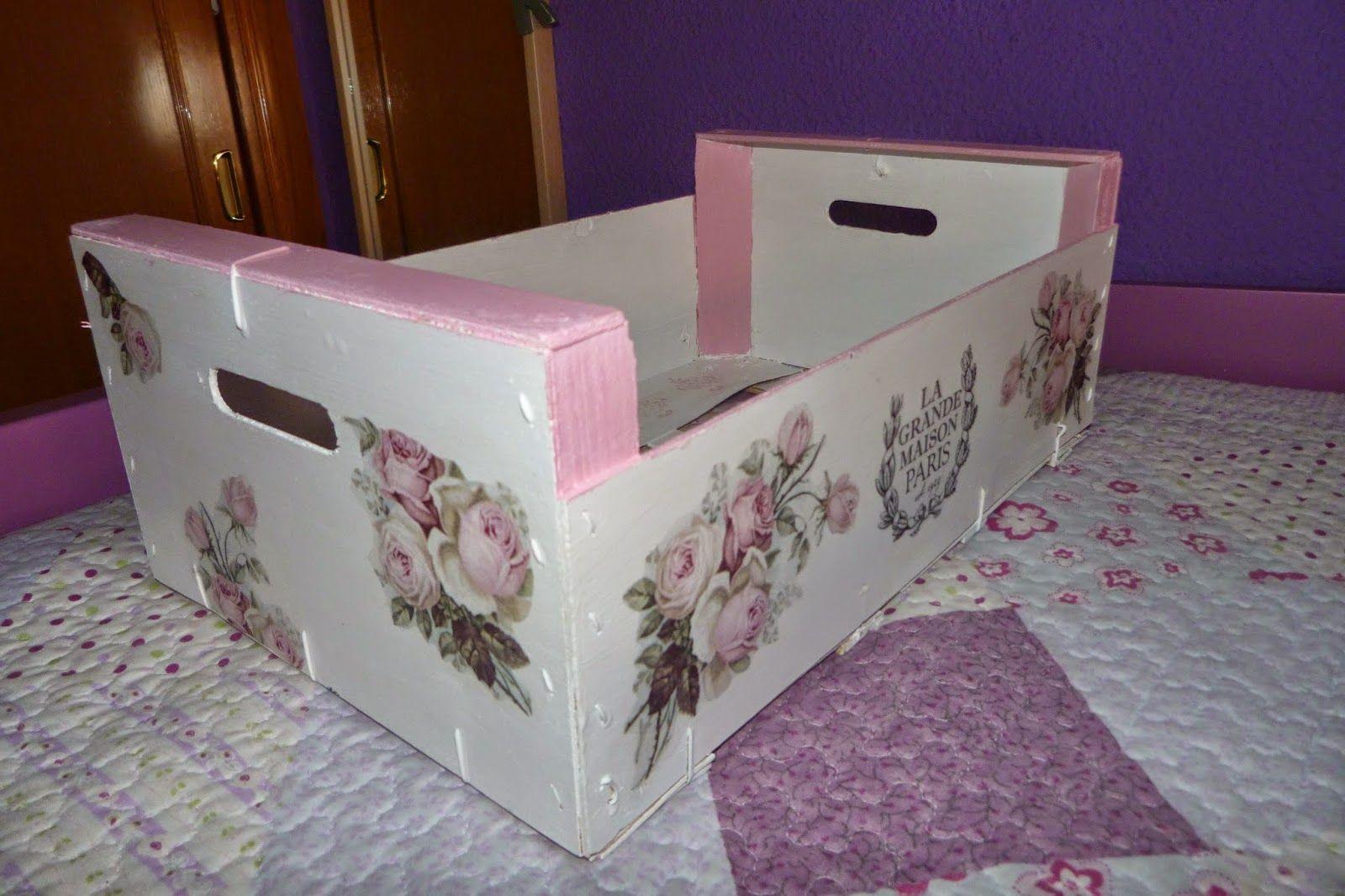 Cosasdeisabel caja de fruta reciclada cajas de fruta pinterest manualidades decoupage y Cajas de vino decoradas