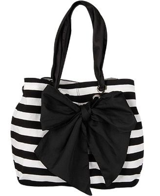 Striped Cotton Summer Handbag